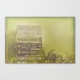Lets go to the beach Canvas Print