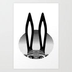 Peekaboo Rabbit Art Print