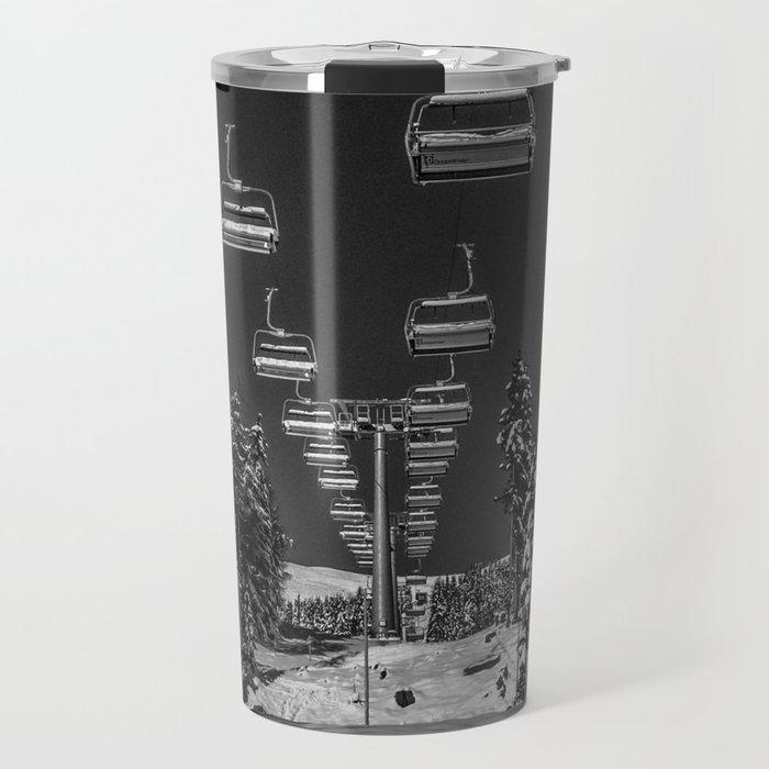 Chairlift to the Fuchsia Moon Travel Mug