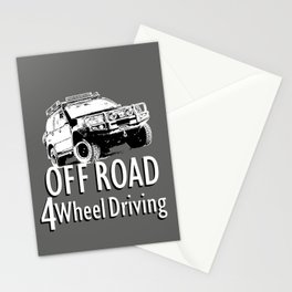 Off Road 4 Wheel Driving Stationery Cards