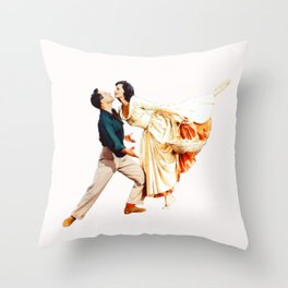Gene Kelly and Cyd Charisse - Brigadoon Throw Pillow