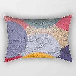 rounds of paper Rectangular Pillow