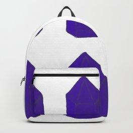 Blue Gemstone Pattern Backpack