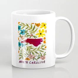 North Carolina + florals Coffee Mug