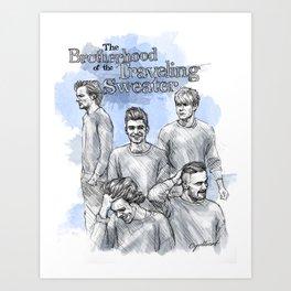 The Brotherhood of the Traveling Sweater Art Print