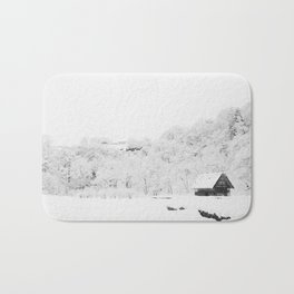 Winter Forest (Black and White) Bath Mat
