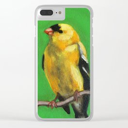 American Goldfinch Bird Clear iPhone Case
