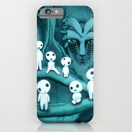 Kodama and the Forest Spirit iPhone Case