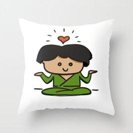 Zen buddy Throw Pillow