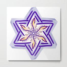 Hanukkah Star of David - 3 Metal Print