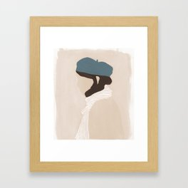Blue Beret Framed Art Print