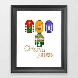 Christmas jumpers  Framed Art Print
