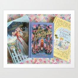 Anne of Green Gables Books Art Print