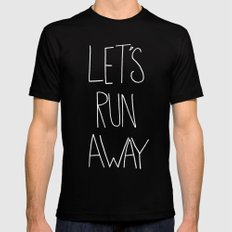 Let's Run Away to NYC Black Mens Fitted Tee MEDIUM