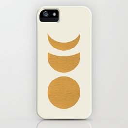 Lunar Phase - Gold iPhone Case