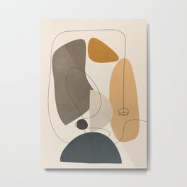 Abstract Minimal Shapes 26 Metal Print