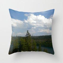 Tranquil Lake Throw Pillow