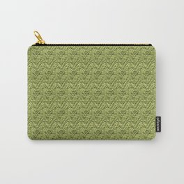 Green Zig-Zag Knit Carry-All Pouch