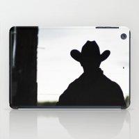 cowboy iPad Cases featuring Cowboy by 100 Watt Photography