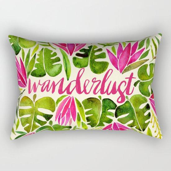 Tropical Wanderlust – Pink & Lime Rectangular Pillow