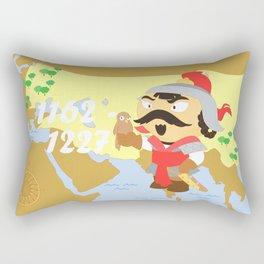 Genghis Khan Rectangular Pillow