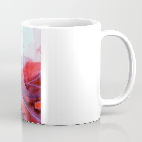 Watercolor magenta & cyan, abstract texture Mug