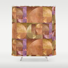 Golden Ratio, Golden Spiral Composition Shower Curtain