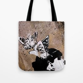 Long Gone Whisper II (street art graffiti painting, girl with butterflies) Tote Bag