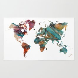 Map of the World triangle Rug