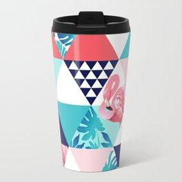seamless pink flamingo pattern Travel Mug