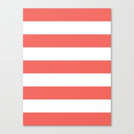 Coral Stripes Canvas Print