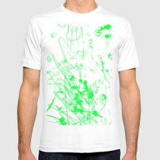 2a MEDIUM Mens Fitted Tee White