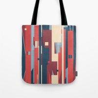 metropolis Tote Bags featuring Metropolis by Tracie Andrews