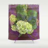 hydrangea Shower Curtains featuring hydrangea by Federico Faggion
