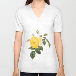 Vintage Yellow Rose [01] Unisex V-Neck