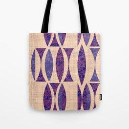 Seventies violet Pattern Tote Bag