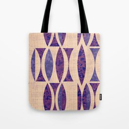 Seventies violet Pattern Tote Bag