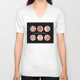 Hearts Like Wild Flowers Unisex V-Neck