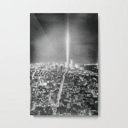 New York City - Night - Tribute Metal Print