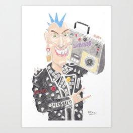 Punk Rocker Art Print