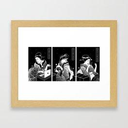 Tech Courtesans Triptych Framed Art Print