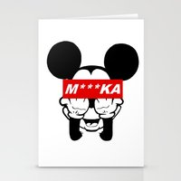 mickey Stationery Cards featuring Mickey by GreekStreet