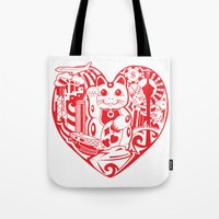 onesie Tote Bags featuring isabelle by Gray