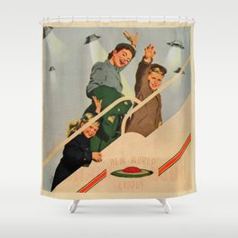 ufo exodus Shower Curtain