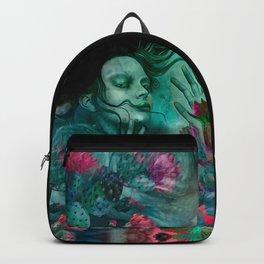 """""""Sirena between pastel cactus flowers"""" Backpack"""