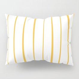 Irregular Mustard Yellow Stripes on White Minimalist Pattern Pillow Sham