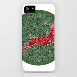 ladies stag head stag deer krahl stag Bavarian iPhone Case