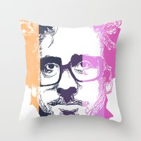 tim burton Throw Pillows featuring TIM BURTON IN COLORS by BURRO