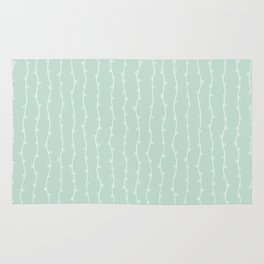 Willow Stripes - Sea Foam Green Rug