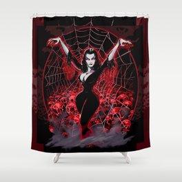 Web of Vampira Shower Curtain